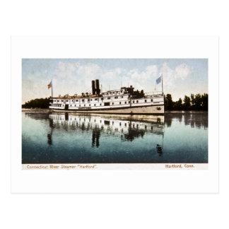 """Vapor """"Hartford """" del río Connecticut Postal"""
