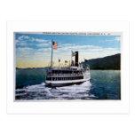 """Vapor """"Horicon"""", lago George, Nueva York Tarjeta Postal"""