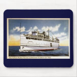 Vapor Naushon, línea del barco de vapor de Nantuck Alfombrilla De Raton