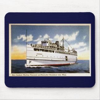 Vapor Naushon línea del barco de vapor de Nantuck Alfombrilla De Raton