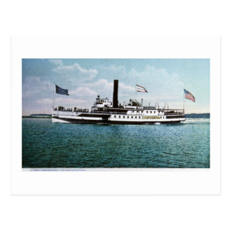 Vapor Ticonderoga en el lago Champlain Postales
