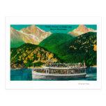 Vapor turístico en el lago diablo, Skagit Tarjetas Postales