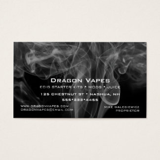Vapor Vape Plume of Smoke Black & White Business Card