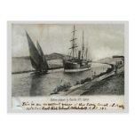 Vapor y vela en el canal de Suez Tarjeta Postal