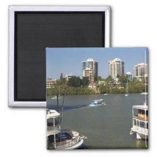 Vapores de paleta, río de Brisbane, Brisbane, Imán Cuadrado