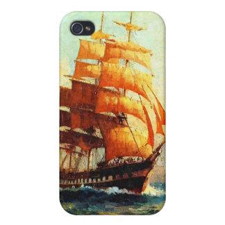 Vapores del velero y del océano iPhone 4 protector
