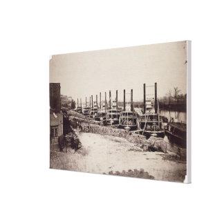 Vapores en el Mississippi (foto de b/w) Impresión En Lienzo Estirada