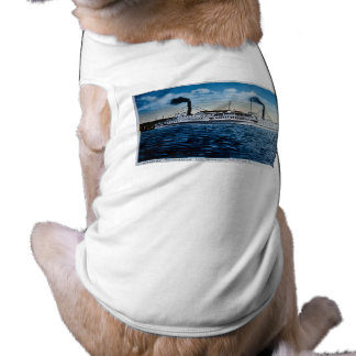Vapores Ticonderoga y Vermont, Burlington, VT Playera Sin Mangas Para Perro