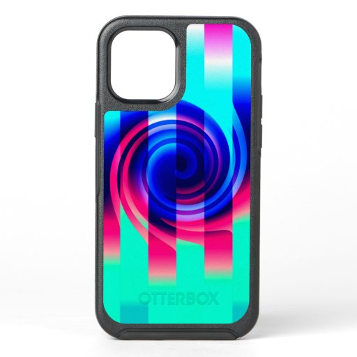 Vaporwave Spiral Abstract Otterbox iPhone 12 Case