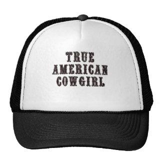 Vaquera americana verdadera gorra