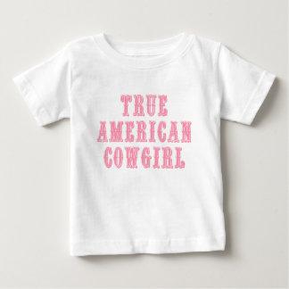 Vaquera americana verdadera playera de bebé