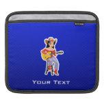 Vaquera con la guitarra; Azul Mangas De iPad