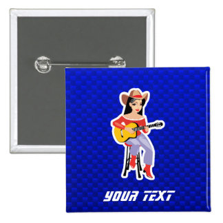 Vaquera con la guitarra Azul Pin