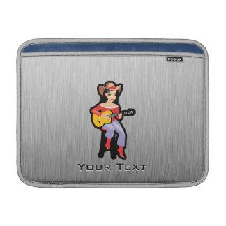 Vaquera con la guitarra fundas para macbook air