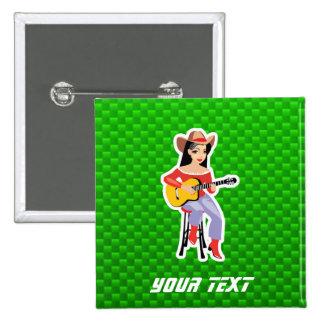 Vaquera con la guitarra Verde Pin