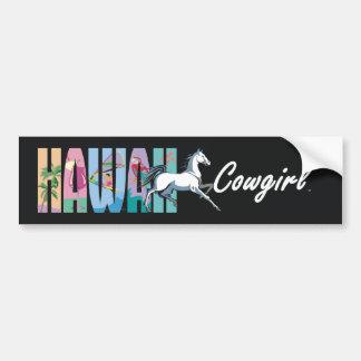 Vaquera de Hawaii de la CAMISETA Pegatina De Parachoque