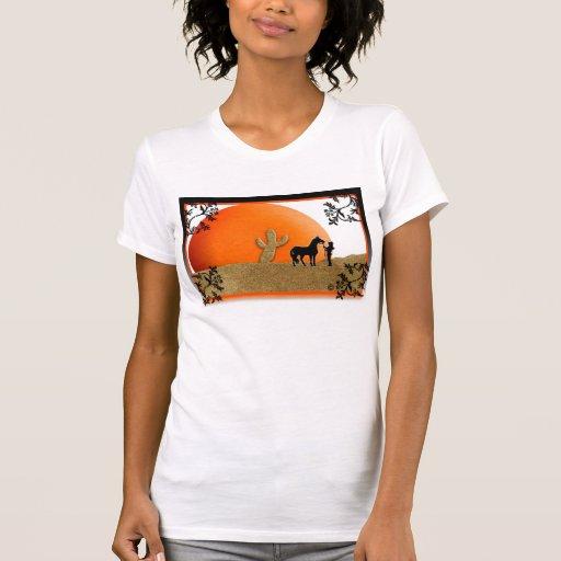 Vaquera de la puesta del sol playera