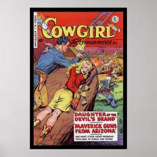 Vaquera de las cubiertas de cómic del poster del v