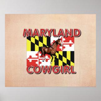 Vaquera de Maryland de la CAMISETA Impresiones