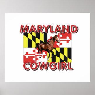 Vaquera de Maryland de la CAMISETA Poster