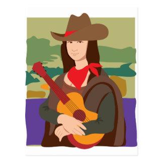 Vaquera de Mona Lisa Tarjeta Postal