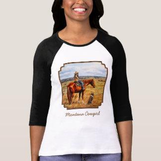 Vaquera de Montana en caballo del ganado Playera