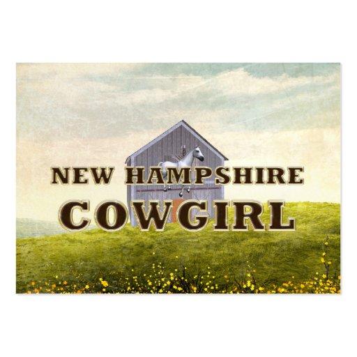 Vaquera de New Hampshire de la CAMISETA Tarjetas De Visita Grandes