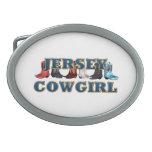 Vaquera de New Jersey de la CAMISETA Hebillas Cinturón Ovales