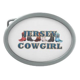 Vaquera de New Jersey de la CAMISETA Hebillas De Cinturon Ovales