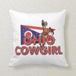 Vaquera de Ohio de la CAMISETA Cojin