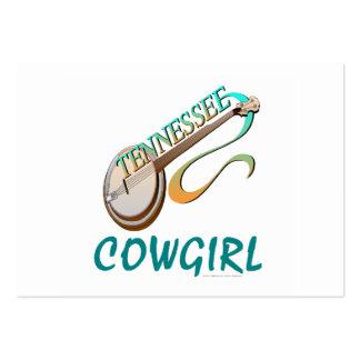 Vaquera de Tennessee de la CAMISETA Tarjetas De Visita Grandes