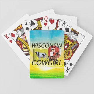 Vaquera de Wisconsin de la CAMISETA Barajas De Cartas