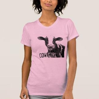 ¡Vaquera del chica de la vaca!  Becerro de la Playeras