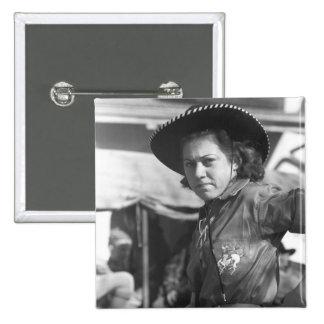 Vaquera del rodeo: 1940 pin cuadrado