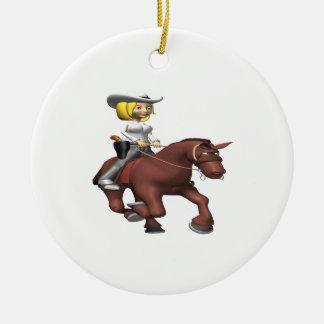 Vaquera en caballo adorno para reyes