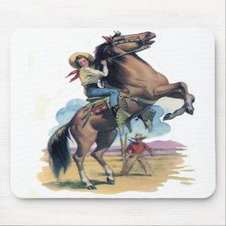 Vaquera en caballo alfombrillas de ratones
