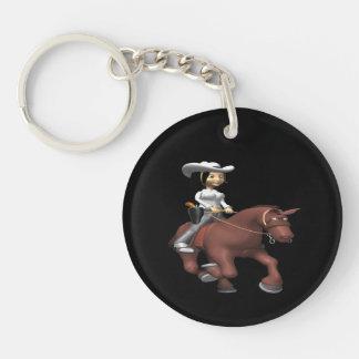 Vaquera en el caballo 2 llavero