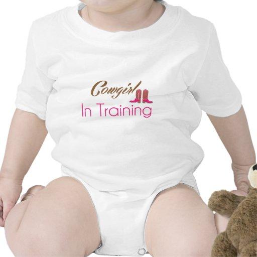 Vaquera en ropa del bebé del entrenamiento traje de bebé