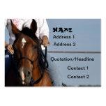 Vaquera en tarjeta de visita del caballo
