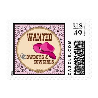 Vaquera - franqueo, sellos