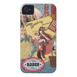 vaquera occidental del vintage moderno Case-Mate iPhone 4 funda