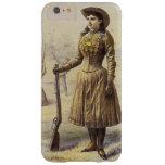 Vaquera occidental del vintage, Srta. Annie Oakley Funda Para iPhone 6 Plus Barely There