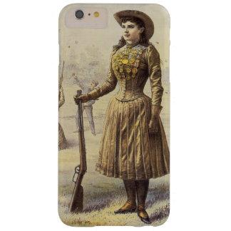 Vaquera occidental del vintage, Srta. Annie Oakley Funda De iPhone 6 Plus Barely There