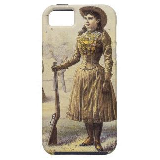 Vaquera occidental del vintage, Srta. Annie Oakley iPhone 5 Case-Mate Protector