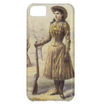 Vaquera occidental del vintage, Srta. Annie Oakley Funda Para iPhone 5C