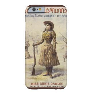 Vaquera occidental del vintage, Srta. Annie Oakley Funda De iPhone 6 Barely There