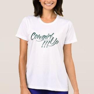 ¡Vaquera para arriba!!! Micro-Fibra T-Shi del Camisetas