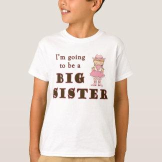 Vaquera que va a ser hermana grande playeras