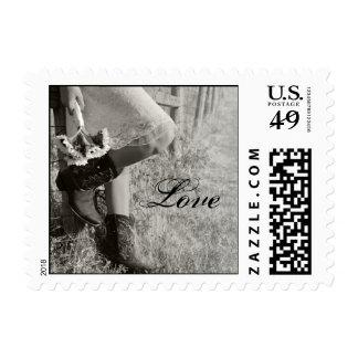 Vaquera y boda del país de los girasoles sello postal