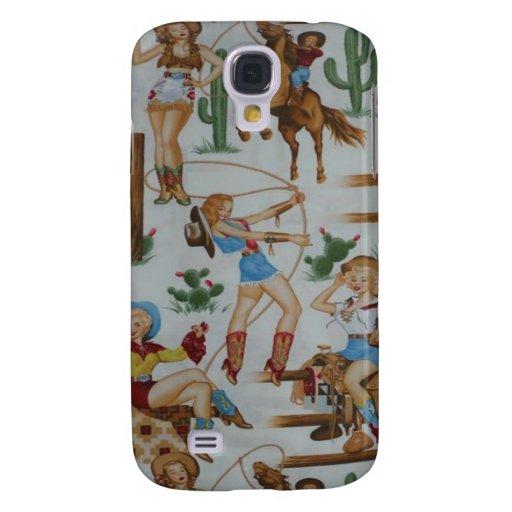 Vaqueras retras 3G/3GS del rodeo Funda Para Galaxy S4